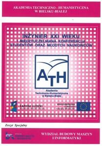 Book Cover: I Międzyuczelniana Konferencja Studentów oraz Młodych Naukowców